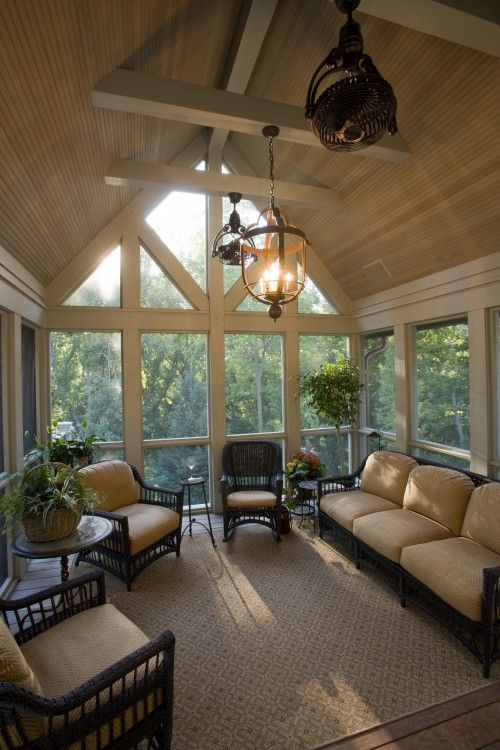 Love the natural lighting in this room. Back porch furniture @Kristine Frybarger