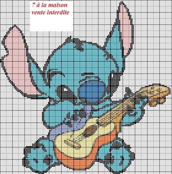 55 best crafts lilo and stitch images on pinterest c2c - Grille gratuite point de croix disney ...