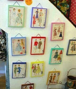 Great idea for a sewing room ! Love it :)