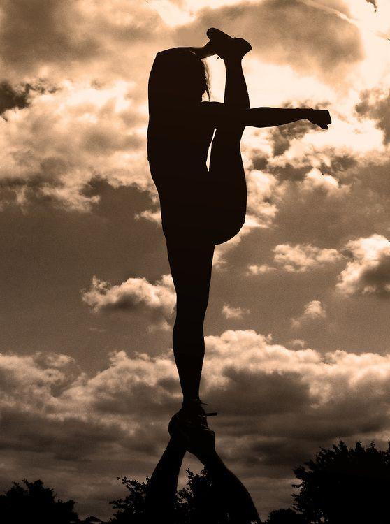 bow and arrow, cheer, cheerleading, stunt