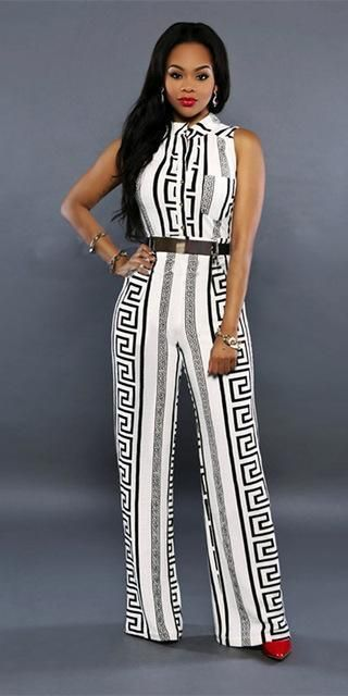 be2382bc66bf Pinkqueen Rompers Womens Jumpsuit Plus Size Cut Pants Rayon New Black White  Milk Silk Ladies