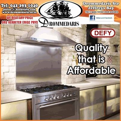 Have you seen the range of Defy stoves and kitchen appliances at Drommedaris? We have a large range of stoves, fridges, freezers and washing machines to choose from. #appliances #affordabl #lifestyle