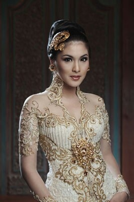 beautiful in kebaya ( traditional dress of indonesia )