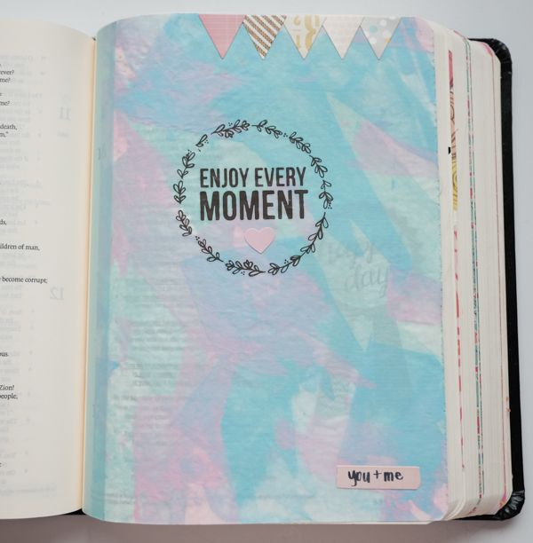 Deli paper insert in journaling Bible for Psalms.