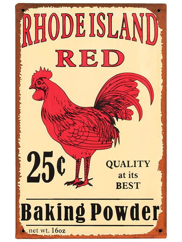 Rhode Island Red baking powder.