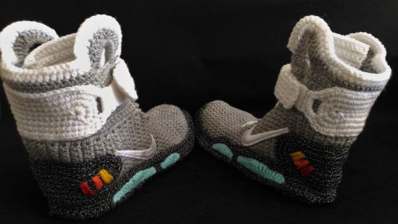 Marty McFly Shoes Nike Air Mags Back to the Future Knitted