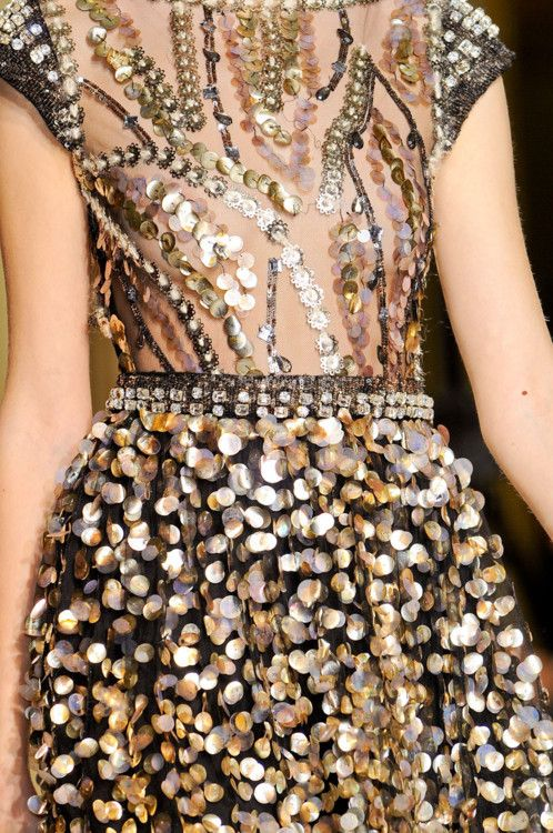 Collette Dinnigan Fall 2012 Runway Details