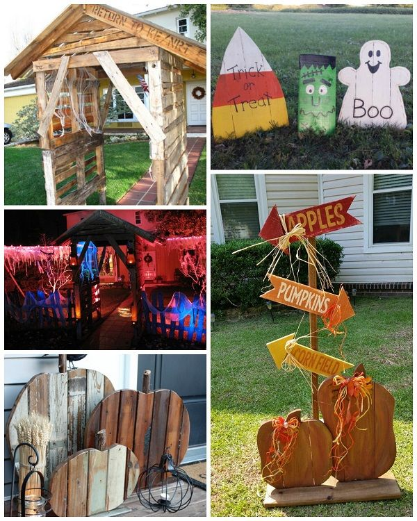 best halloween wood pallet decorations
