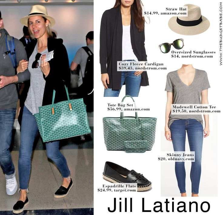Perfect spring break travel outfit idea! Goyard dupe, cozy cardigan, skinny jeans, espadrille flats