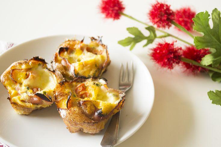 Een simpel, maar heerlijk recept voor hartige ei muffins. Gezond, luchtig en goed vullend!