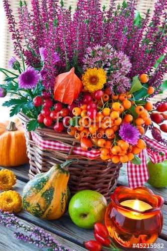 """Laden Sie das lizenzfreie Foto """"Herbst -  Dekoration"""" von PhotoSG zum günstigen Preis auf Fotolia.com herunter. Stöbern Sie in unserer Bilddatenbank und finden Sie schnell das perfekte Stockfoto für Ihr Marketing-Projekt!"""