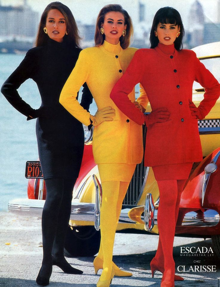 Yasmin Le Bon, Niki Taylor and Gail Elliott for Escada fw 1992