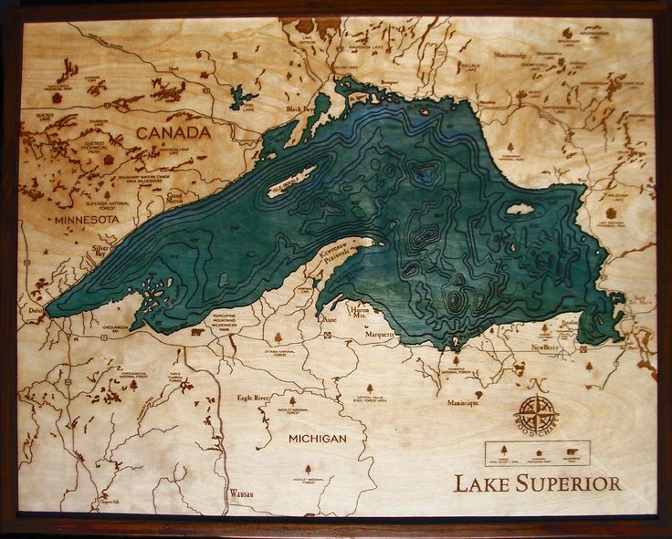 The 25 best Lake superior map ideas on Pinterest  Great lakes
