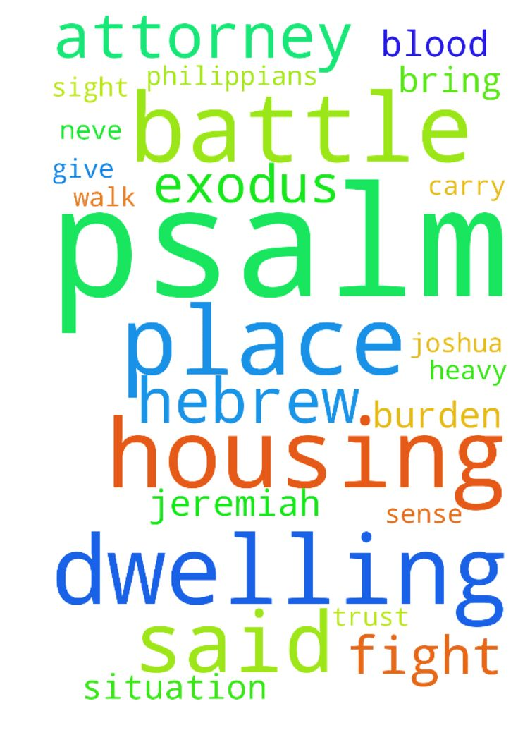 Pray that my attorney and Jesus fight my battle in - Pray that my attorney and Jesus fight my battle in my housing dwelling place court case favour and victory declare it decree it praise the lord thank you Jesus thank you Jesus exodus1213 exodus1414 psalm5522 psalm3417 psalm344 psalm5015 romans831 peter57 james56 hebrew416 hebrew1356 isaiah54173 john2 deuteronomy318 philippians467 psalm2040psalm512 psalm11 joshua1;89 psalm91216 psalm13878 jeremiah2011 jeremiah1778 psalm168 psalm4610…