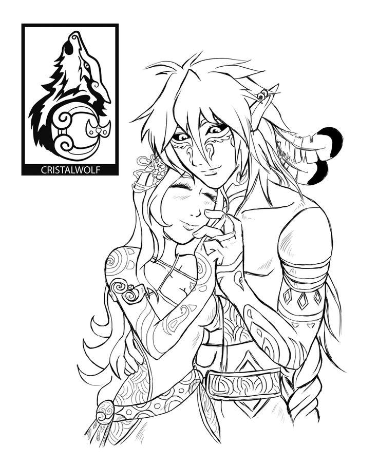 Xazaki e Luhara - Mesa de RPG