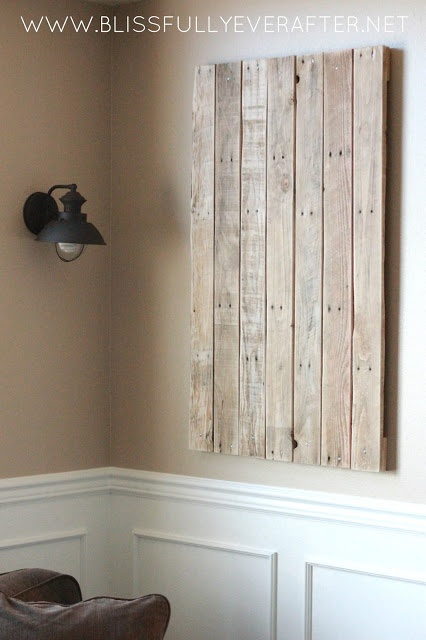 Upcycling pallet wood projects to protect the wall around for Diy dartboard lighting