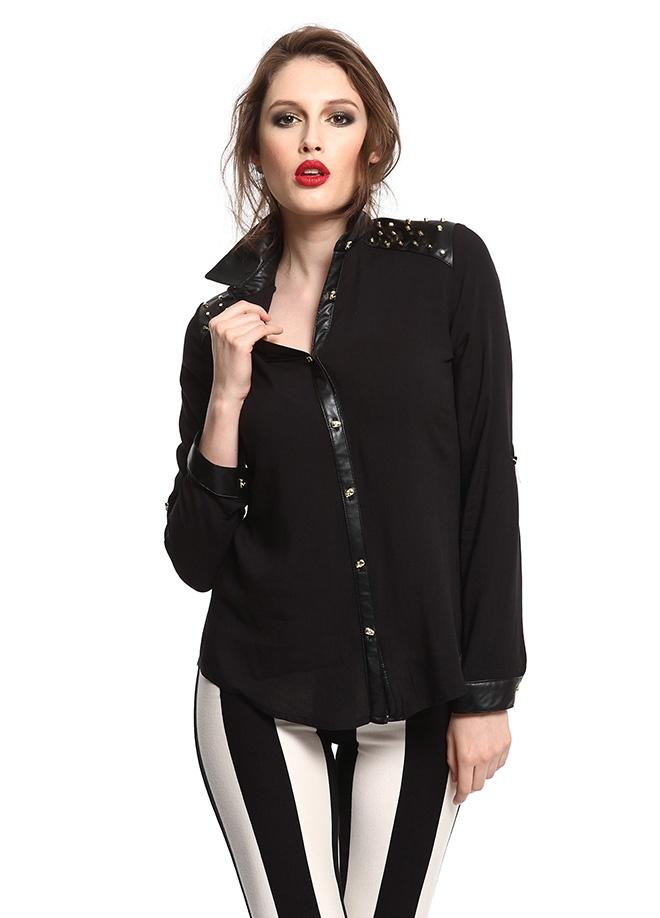 SATEEN Derili omuzu droplu gömlek Markafoni'de 59,90 TL yerine 29,99 TL! Satın almak için: http://www.markafoni.com/product/3411116/