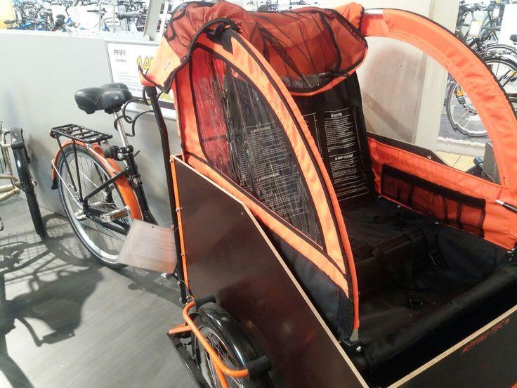 Pfau-Tec. Transportrad. 3 Gang. 1499€. Kids Aufsatz 549€.