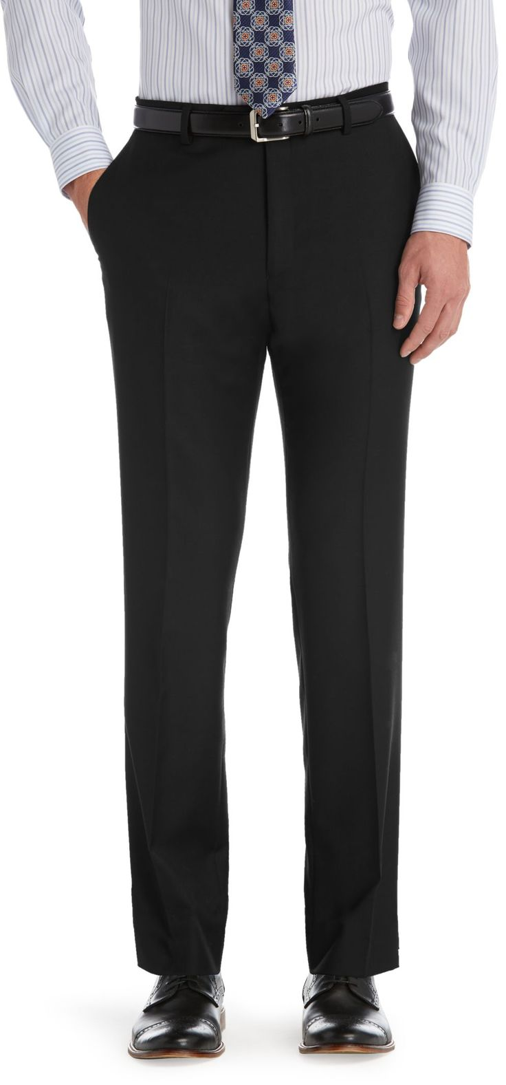 Traveler Tailored Fit Plain Front Suit Trousers Big and Tall