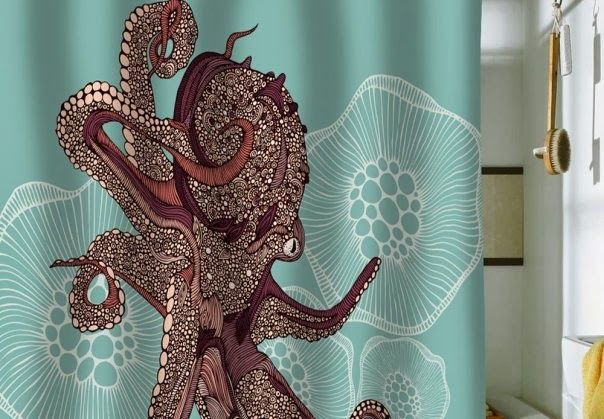 octopus shower curtain urban outfitters 52 best bathroom update images on bathroom 140