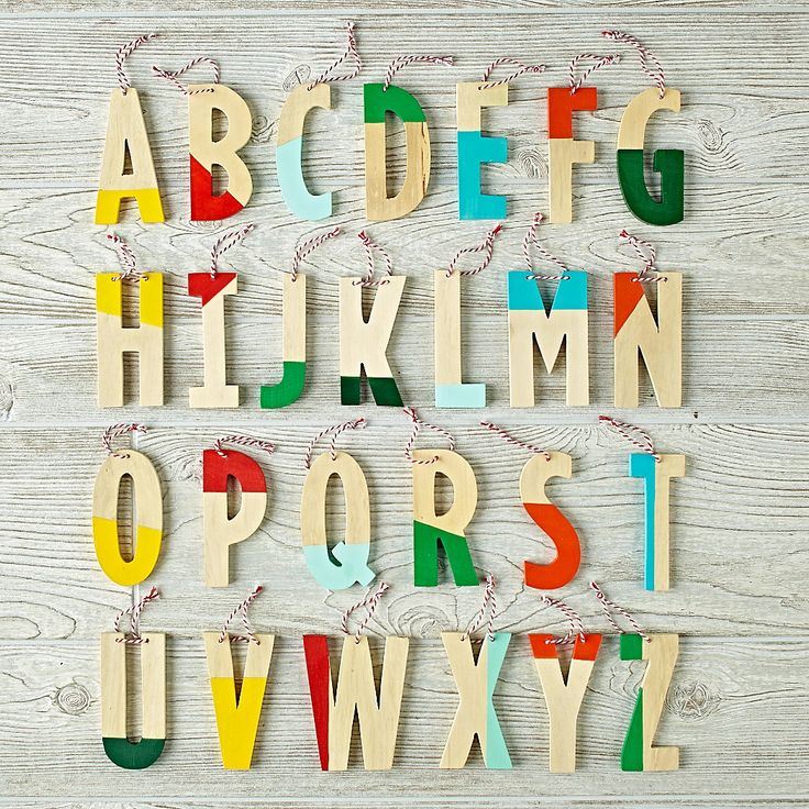 Color Dipped Letter Ornament | The Land of Nod