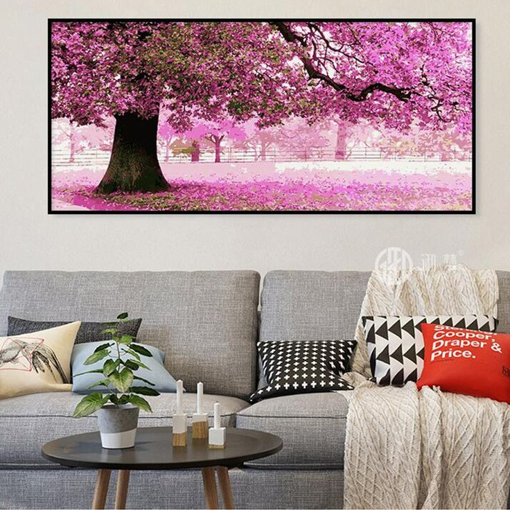 Home Beauty 50*100 Large Picture For Living Room Diy Hand Painted Modular  Oil Painting · Bilder Für WohnzimmerBaum ...