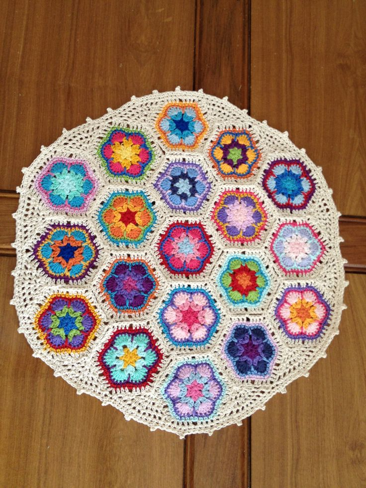 Crochet flor africana