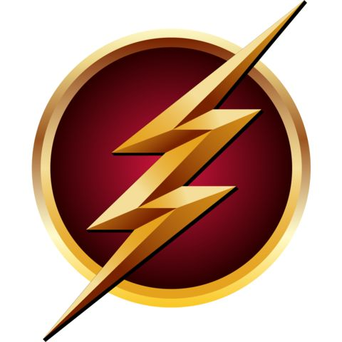 an inverted version of the flash superhero logo from the arrow wiki