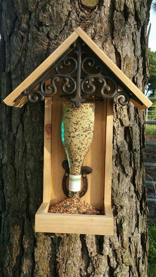Best 25 Diy Wine Bottle Bird Feeder Ideas On Pinterest