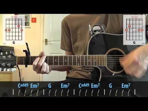 how to play wonderwall on guitar no capo