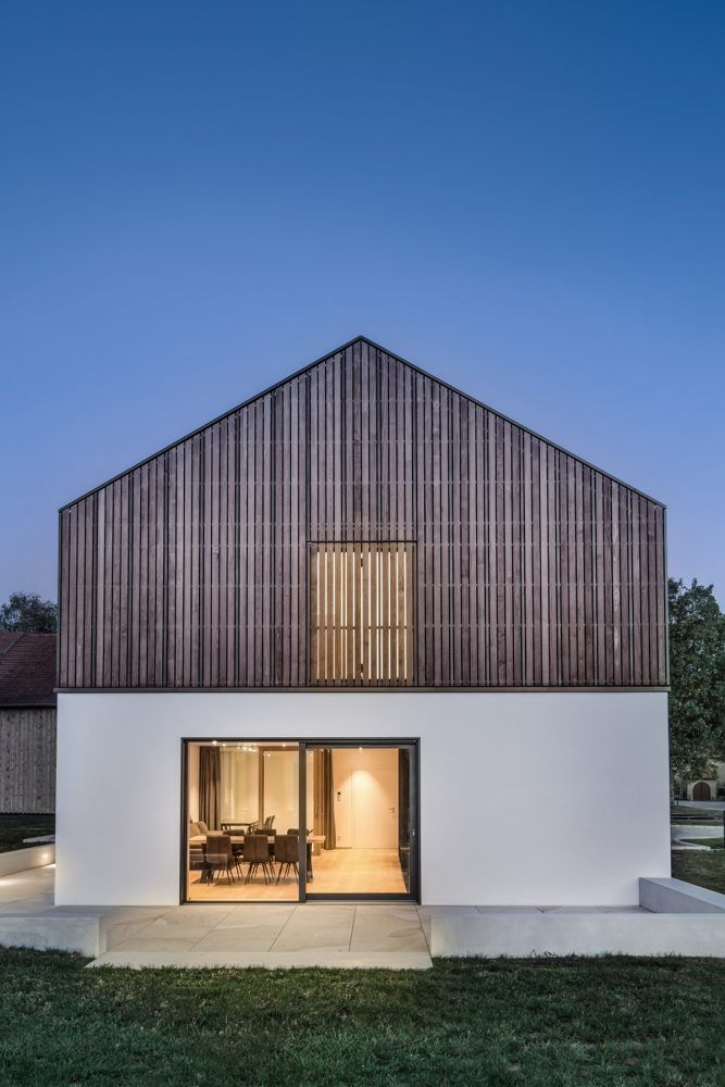 dittelarchitekten, nouvel immeuble résidentiel #architecture #facade #barn #modern #timber