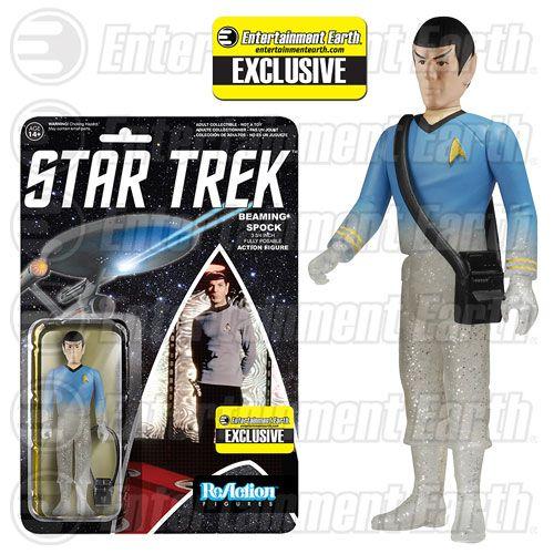 Star Trek The Original Series Beaming Spock ReAction Retro Action Figure
