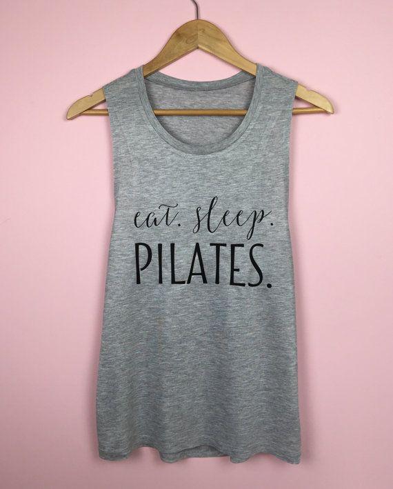 Workout Tank Top. Eat Sleep Pilates. Workout by TrexAndUnicorn