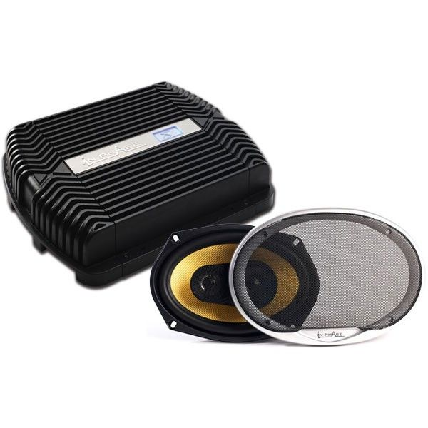 In Phase IPX600 600 watts amp and speaker deal - Car Audio Centre