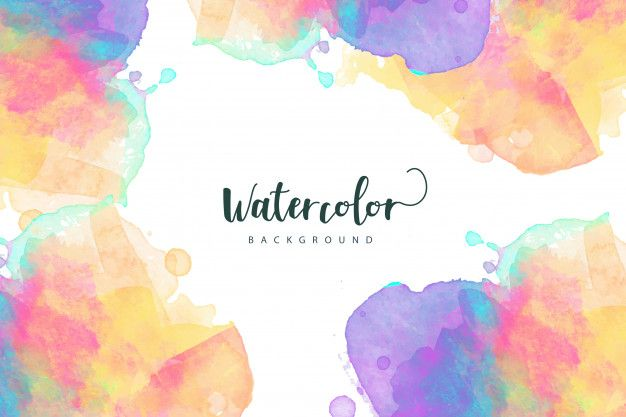 Colorful Border Watercolor Textured Background Vector Free Image
