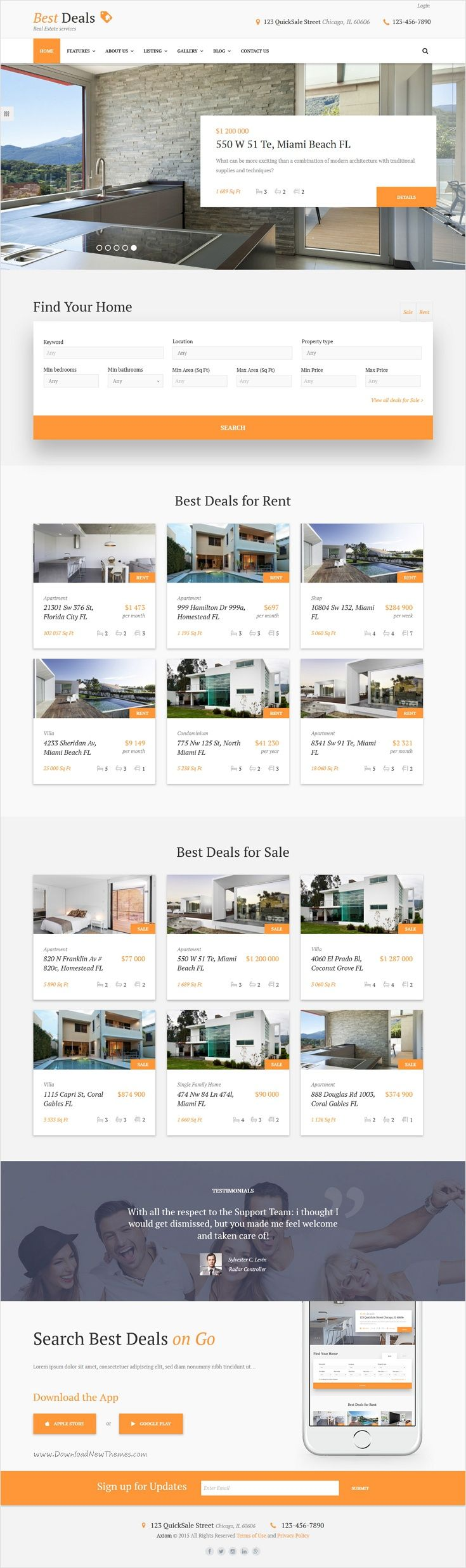 Best deals property sales rental site template