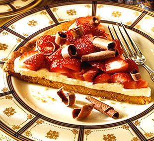 Пицца с клубникой и шоколадом