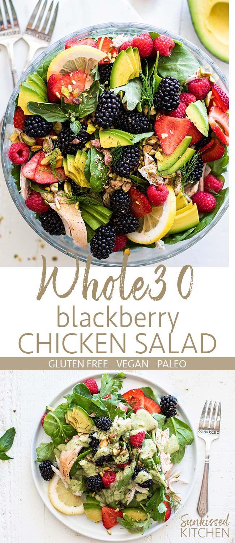 Ganze30 Hähnchen-Brombeer-Salat / Dieser frische und sommerliche Salat ist …   – Salad Recipes