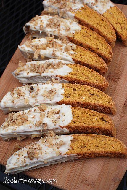pumpkin gingerbread biscotti #baking #recipes