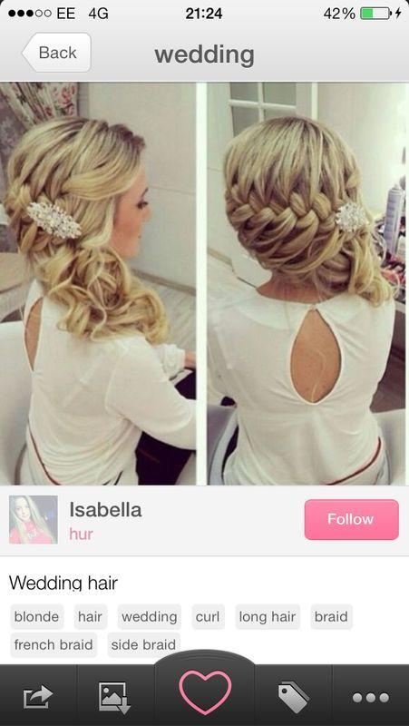 Christine Bride hair. LOVE !!