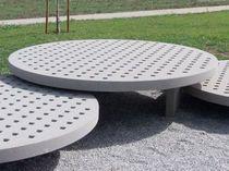 Public bench / contemporary / engineered stone