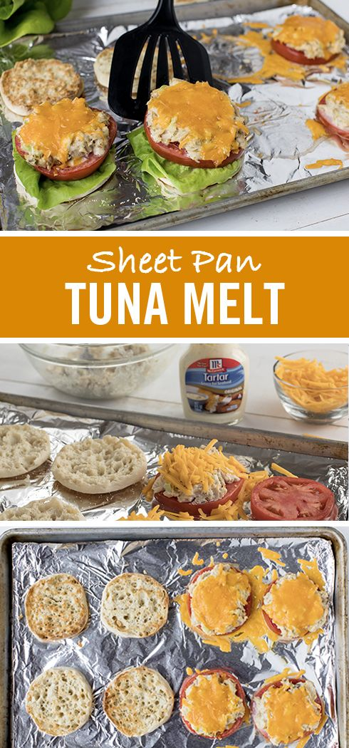 Short on time? Don't skimp on flavor. These tuna melts are a tasty 15-minute meal. Swap mayonnaise for McCormick Tartar Sauce in the tuna fish mixture for a tangy twist. Scoop onto two English muffins with tomato, shredded Cheddar cheese and lettuce. Then let the oven do the work in this easy sheet pan recipe.