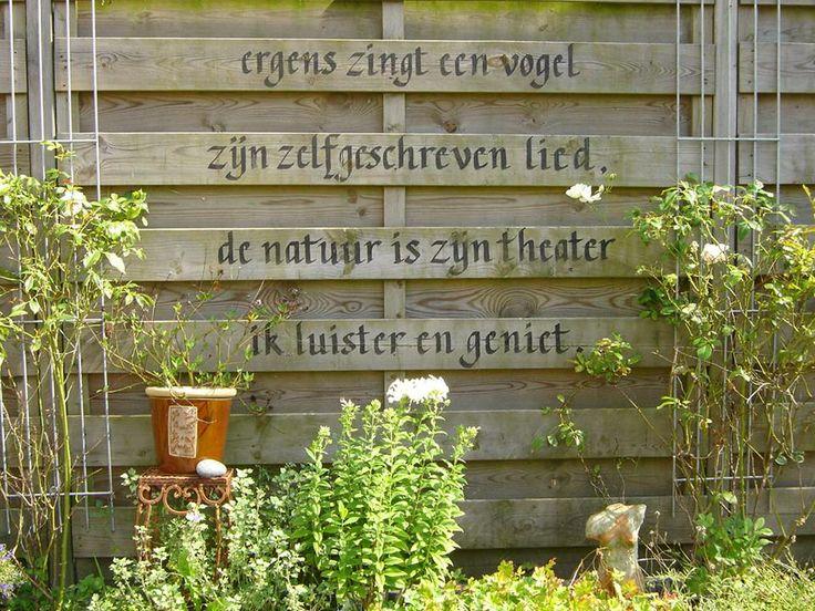 mooie spreuk voor in de tuin