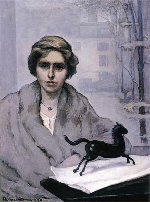 "Portrait of Miss Natalie Barney, ""L'Amazone"" (1920) by Romaine Brooks, (American expatriate artist, 1874-1970)"
