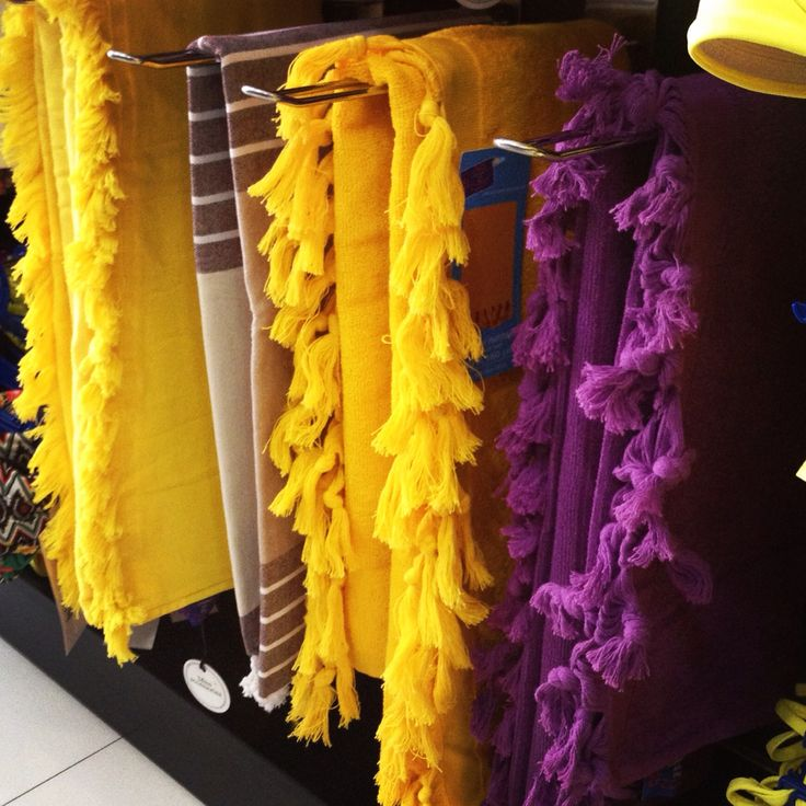 #beachtowels by Miss Accessories  #towels #purple #yellow