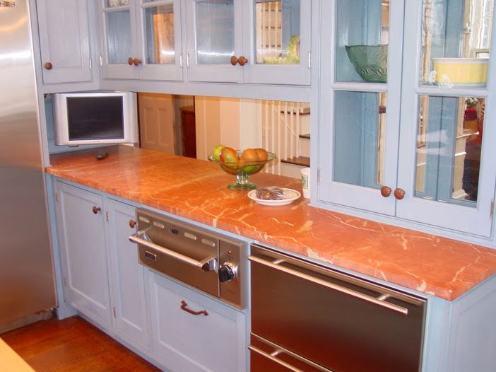 Marble enables that great and elegant look for your kitchen, bathroom and other interiors. It is often used as the only material for an entire room like kitchen or bathroom and others. What you get is a reliable structure made of marble which is going to stay like that for years.