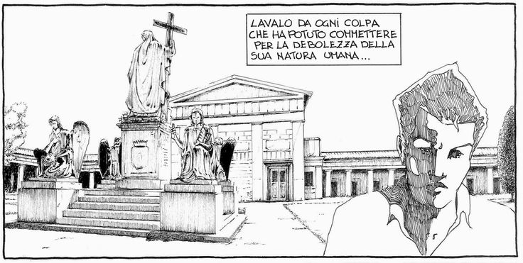 dal fumetto Giordano Bruno vignetta del n°4  prossima uscita