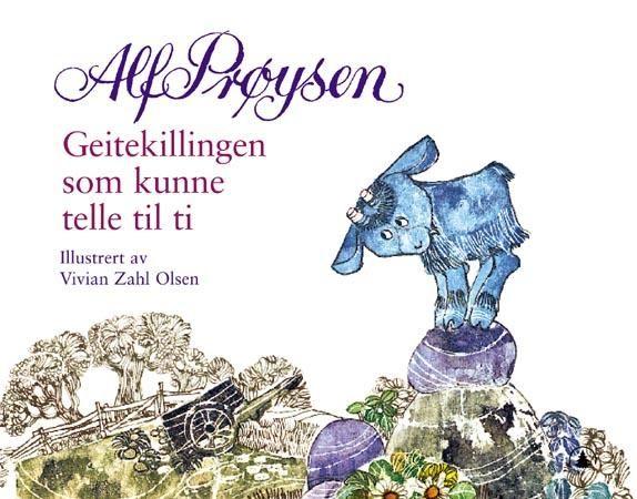 Alf Prøysen. Geitekillingen som kunne telle til ti. Likte så godt filmen. Når jeg leser boka hører jeg Alf Prøysen sin koselig stemme i hodet mitt.