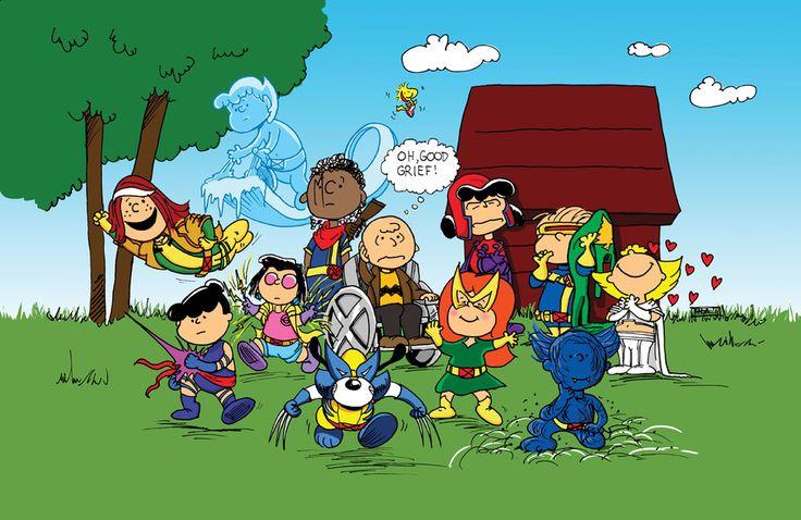Mashup X-Men e Peanuts - Perfeito, não?