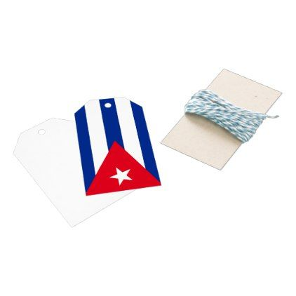 Cuba flag gift tags  $9.45  by AwesomeFlags  - custom gift idea